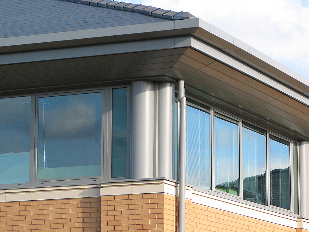 aluminium bespoke column casings beam casing shrewsbury business park