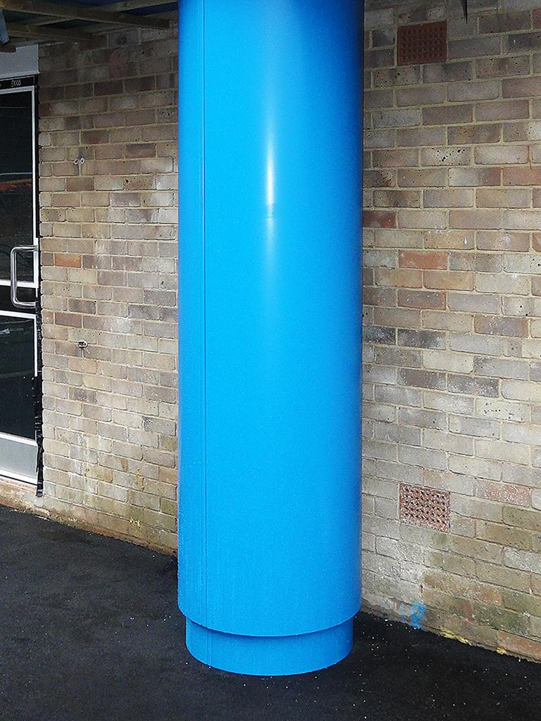 conceal aluminium round column casings