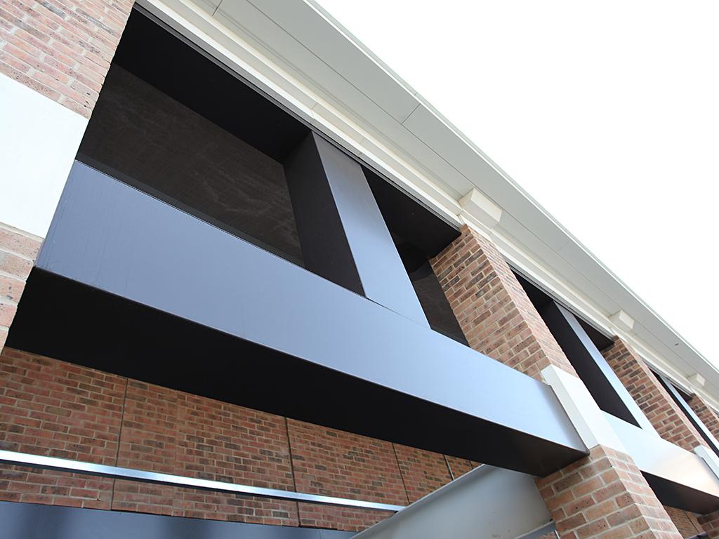 conceal aluminium metal beam casings hilton t5